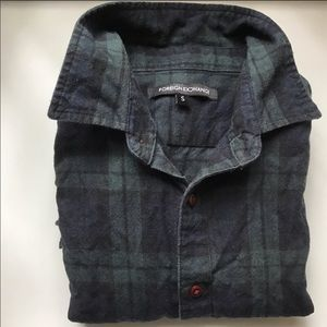 Foreign Exchange flannel — in great condition!